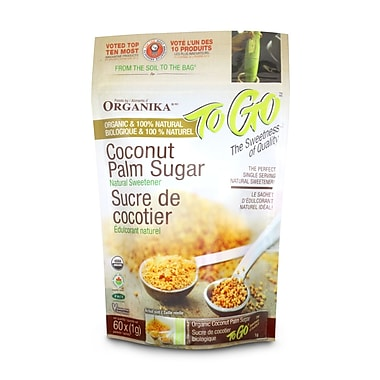 Organika® – Sucre de cocotier certifié biologique+, sac/60 x 1 g