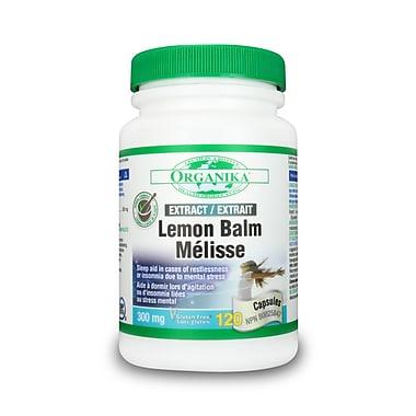 Organika® Lemon Balm Extract Capsules, 3 x 120/Pack