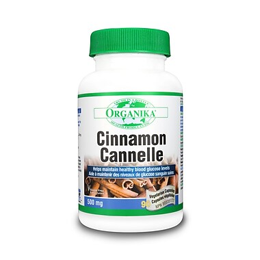 Organika® Cinnamon Vegetarian Capsules, 3 x 90/Pack