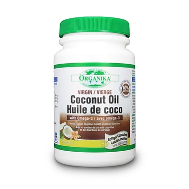 Organika® Coconut Oil With Omega 3 Softgels, 3 x 60/Pack