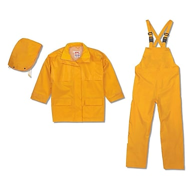 Open Road 150D Rip-Stop Polyester Rain Suit, Small, Yellow