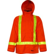 Viking Journeyman 300D Trilobal Rip-Stop Jacket with Safety Striping, Orange