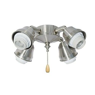 Emerson Fans 4-Light Arm Fitter; Heavy Brushed Steel