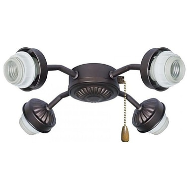 Emerson Fans 4-Light Arm Fitter; Barbeque Black