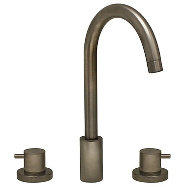 Whitehaus Collection Luxe Widespread Bathroom Faucet w/ Double Handles; Brushed Nickel