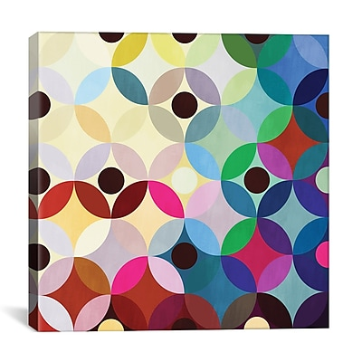 iCanvas Modern Mid Century Circular Motion Graphic Art on Canvas; 18'' H x 18'' W x 1.5'' D