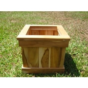 Diamond Teak Teak Planter Box; 12''