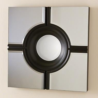 Global Views Bull's Eye Cross Mirror; Black