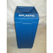 Forte Product Solutions 39-Gal Open Top Recycling Bin; Blue