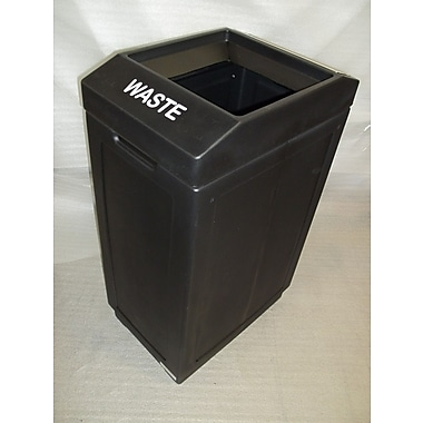 Forte Product Solutions 39 Gallon Trash Can; Black