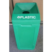 Forte Product Solutions 39 Gallon Recycling Bin; Green