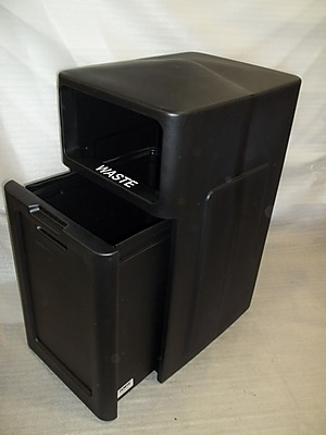 Forte Product Solutions Sidekick 39 Gallon Trash Can; Beige