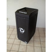 Forte Product Solutions 39 Gallon Recycling Bin; Black