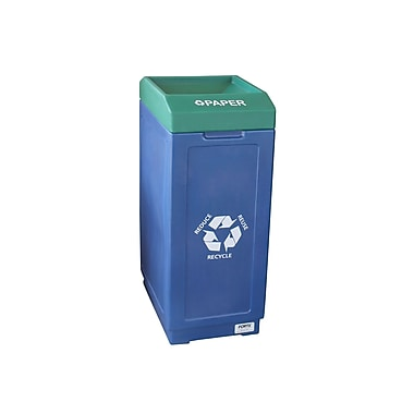Forte Product Solutions 39 Gallon Recycling Bin; Blue and Green
