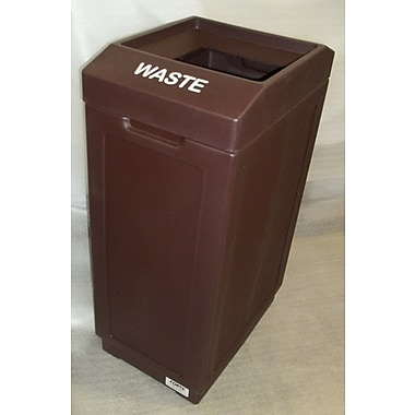 Forte Product Solutions 39 Gallon Trash Can; Brown
