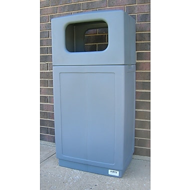 Forte Product Solutions Sidekick 39 Gallon Trash Can; Gray