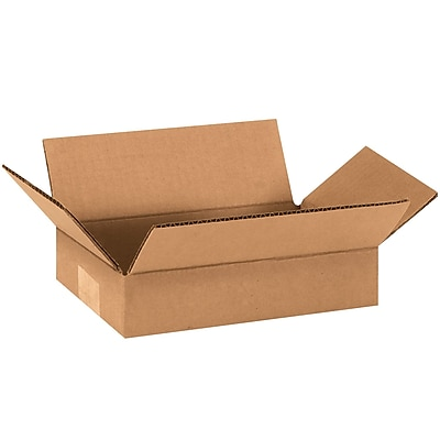 09'' x 6'' x 2'' Shipping Box, 200#/ECT, 25/Bundle (962)