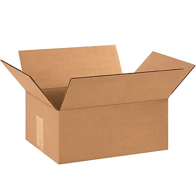 10'' x 7'' x 3'' Standard Corrugated Shipping Box, 200#/ECT, 25/Bundle (1073)