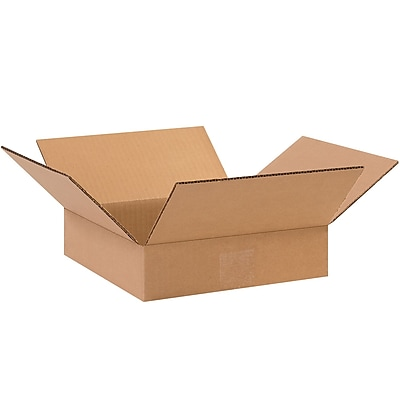 10'' x 10'' x 2'' Standard Corrugated Shipping Box, 200#/ECT, 25/Bundle (10102)