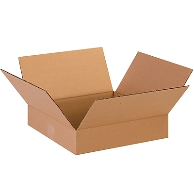 13'' x 13'' x 3'' Standard Corrugated Shipping Box, 200#/ECT, 25/Bundle (13133)