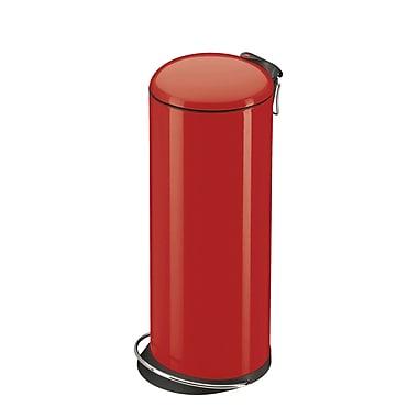 Hailo USA Inc. Trento 7 Gallon Step On Trash Can; Red