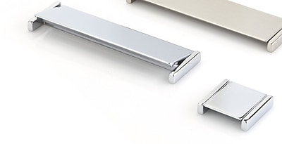 Topex Design Italian Designs Finger Pull; Bright Chrome