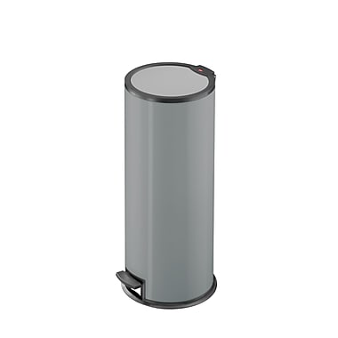 Hailo USA Inc. Steel 6 Gallon Step On Trash Can; Silver