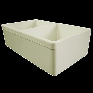 Alfi Brand 32.75'' x 19.88'' Double Bowl Farmhouse Kitchen Sink; Biscuit