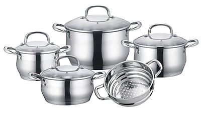 Concord Stainless Steel 9 Piece Cookware Set