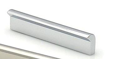 Topex Design Contemporary Finger Pull; Bright Chrome