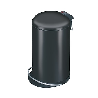 Hailo USA Inc. Trento 4 Gallon Step On Trash Can; Black