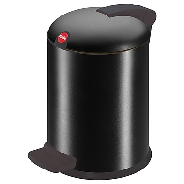 Hailo USA Inc. Trento 1 Gallon Step On Trash Can; Black