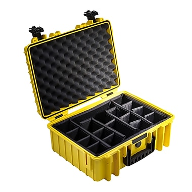 B&W Type 5000 Outdoor Case w/ RPD Insert; Yellow