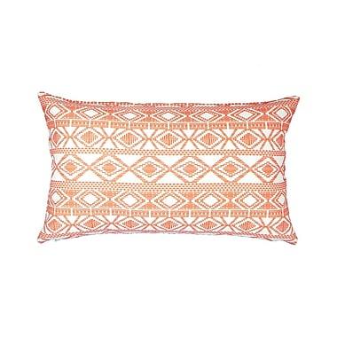 NECTARmodern Printed Linen Lumbar Pillow; Red