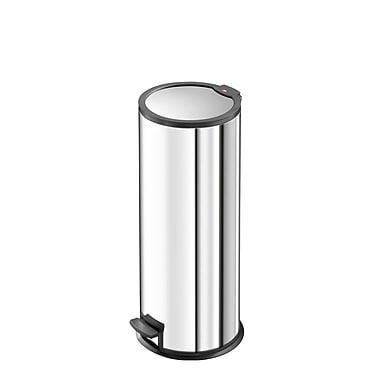 Hailo USA Inc. Steel 6 Gallon Step On Trash Can; Stainless Steel