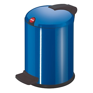 Hailo USA Inc. Trento 1 Gallon Step On Trash Can; Capri Blue