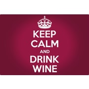 Magic Slice Keep Calm and Drink Wine Non-Slip Flexible Cutting Board
