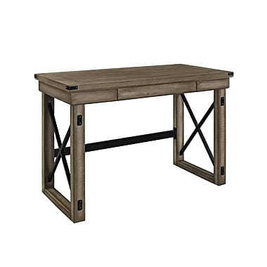 Altra Wildwood Wood Veneer Desk, Rustic Gray
