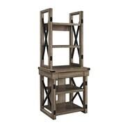 Altra Furniture Marshall 7741396PCOM 3-Shelf Metal Rolling Utility Cart, Teal