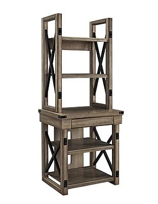 Altra Wildwood Wood Veneer Audio Stand/Bookshelf, Rustic Gray