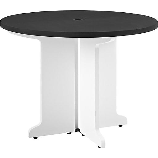 Altra Pursuit Round Table WhiteGray Staples - Staples round table