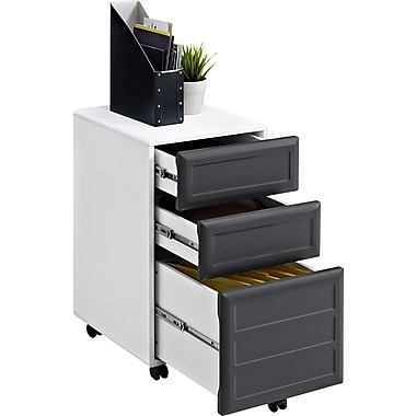 Altra Pursuit 3 Drawer Vertical File, Gray,Letter/Legal, 15.37''W (9523296)