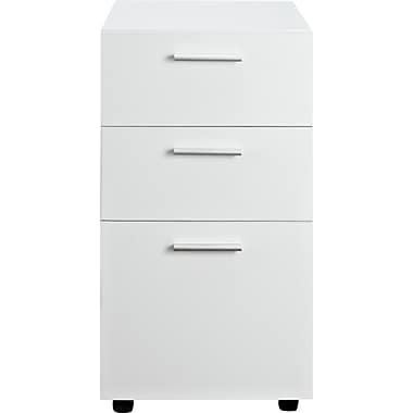 Altra Princeton 3 Drawer Mobile/Pedestal File, White,Letter/Legal, 15