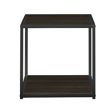 Altra Canton Cave End Table with Metal Frame, Espresso