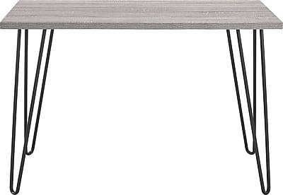 Altra Owen Retro Desk, Sonoma Oak/Gunmetal Gray