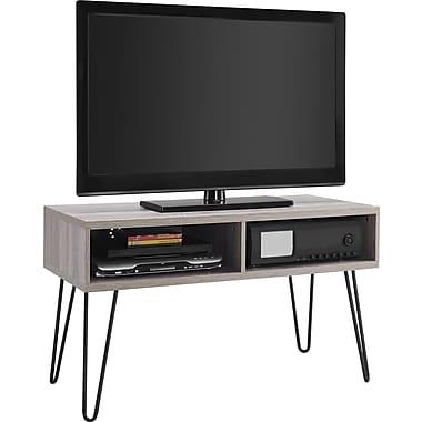 "Altra Owen 42"" Retro TV Stand, Sonoma Oak/Gunmetal Gray"