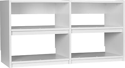 Ameriwood 7156401PCOM Polybutylene Closet Small Organizer, White Aquaseal