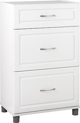 System Build MDF/Particle Board 3-Drawer Storage Cabinet, 23.7