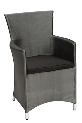 Cosco 88512PLB2E Set of 2 Fabric Dining Chair, Platinum