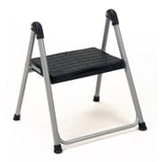 "Cosco 11014PBL1E 16.75"" Steel/Resin Folding Step Stool, Platinum/Black"